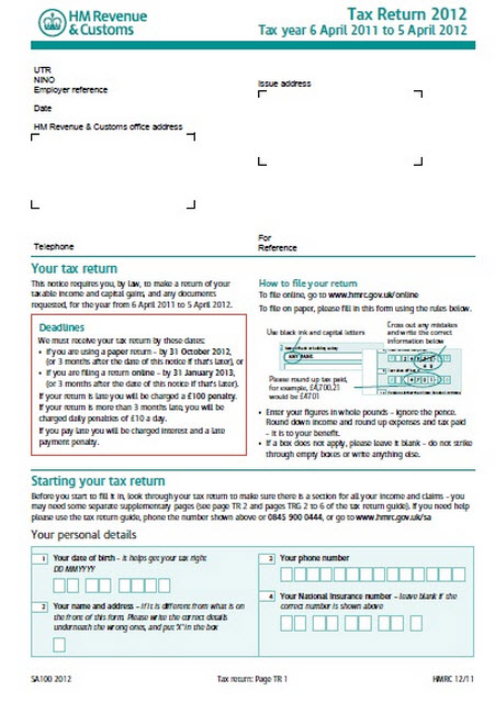 sa-100-self-assessment-form